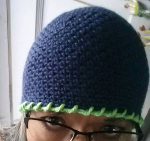 12 Man Reverse Single Crochet Brim