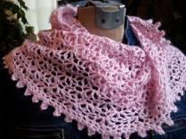 Pink Crochet Mobius Cowl