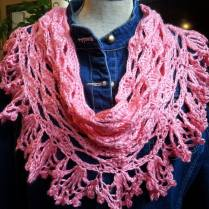 Stawberry Pink Crochet Cowl