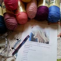 Just a few of the color choices I have...Caron's Simply Soft Yarn. Not a spendy yarn, and one of my favorites.