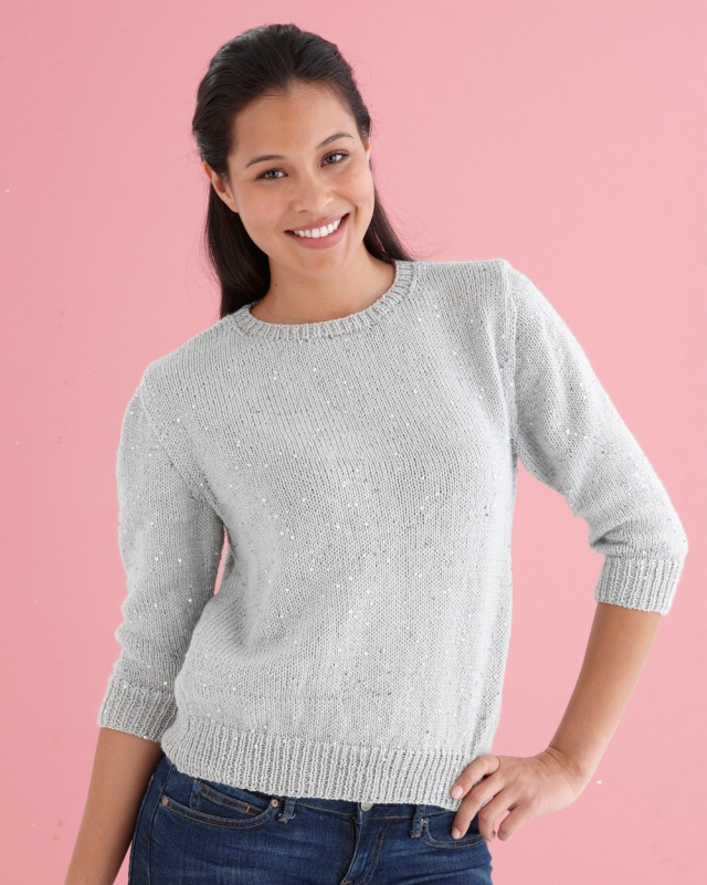 knitting Classic Sparkling Sweater model