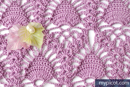 Mypicot Free Crochet Patterns Lace Pineapple Crochet