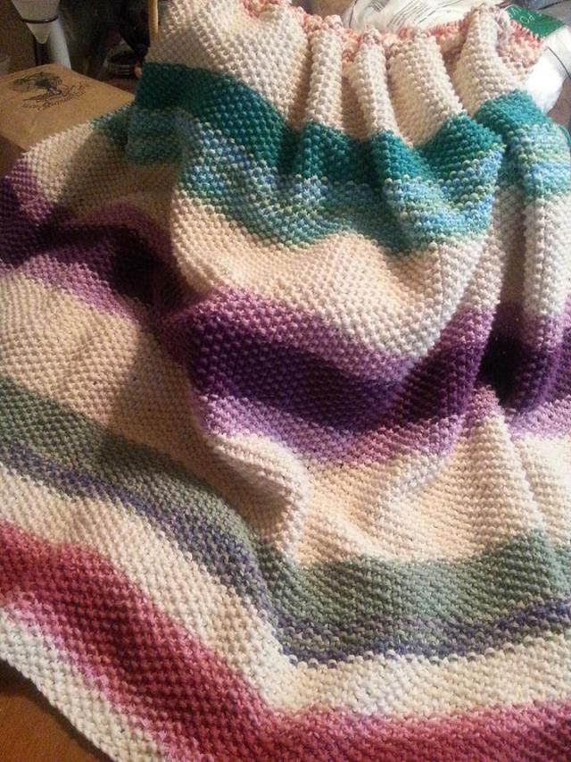 Knit Seed Stitch Scrapghan.