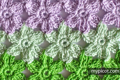 Mypicot Crochet Flower Stitch G Ma Ellen S Hands Adventures In