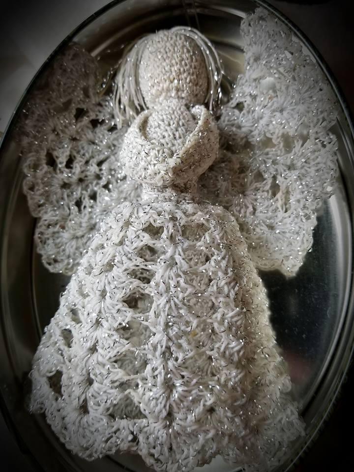 Crochet lace angel